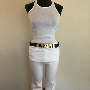 MOSCHINO Couture Logo Letter Belt